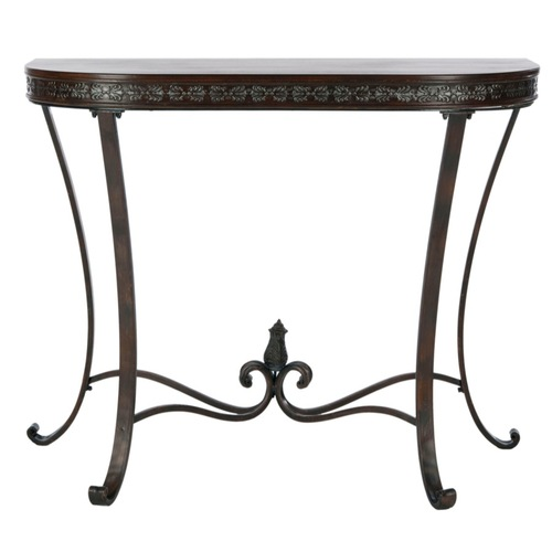 Safavieh american home half round sofa table plant stand for Sofa table for plants
