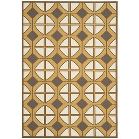 Safavieh Hampton 6-ft 7-in x 9-ft 6-in Rectangular Brown Geometric Indoor/Outdoor Area Rug