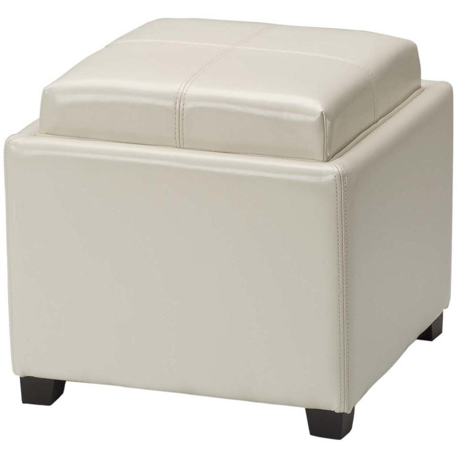 Shop safavieh hudson collection flat cream round storage Round storage ottoman