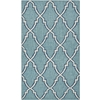 Safavieh Dhurries Light Blue and Ivory Rectangular Indoor Woven Throw Rug (Common: 3 x 5; Actual: 36-in W x 60-in L x 0.33-ft Dia)