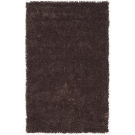 Safavieh Shag Chocolate Rectangular Indoor Tufted Throw Rug (Common: 2 x 4; Actual: 30-in W x 48-in L x 0.5-ft Dia)