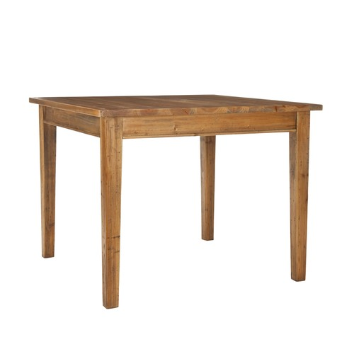 Safavieh american home fir pine wood iron legs dining for Dining room tables lowes