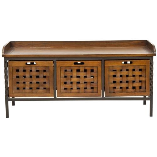 Safavieh Antique Pewter Honey Oak Storage Entryway Bench From Lowes Entrance Furniture