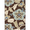 Safavieh Veranda 48-in x 5-ft 7-in Rectangular Brown Floral Indoor/Outdoor Area Rug
