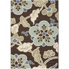 Safavieh Veranda 6-ft 7-in x 9-ft 6-in Rectangular Brown Floral Indoor/Outdoor Area Rug