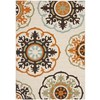 Safavieh Veranda Cream and Terracotta Rectangular Indoor Machine-Made Area Rug (Common: 6 x 9; Actual: 79-in W x 114-in L x 0.42-ft Dia)
