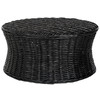 Safavieh Fox Home Black Bamboo Round Coffee Table