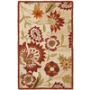 Safavieh Blossom 36-in x 60-in Rectangular Cream Floral Accent Rug