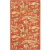 Safavieh Blossom 36-in x 60-in Rectangular Red Floral Accent Rug
