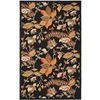 Safavieh Blossom 36-in x 60-in Rectangular Black Floral Accent Rug