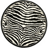 Safavieh Lyndhurst White and Black Rectangular Indoor Machine-Made Area Rug (Common: 4 x 6; Actual: 48-in W x 72-in L x 0.42-ft Dia)