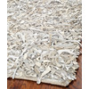Safavieh Leather Shag 5-ft x 8-ft Rectangular White Solid Area Rug