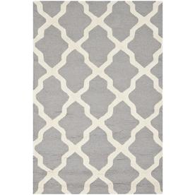 Safavieh Cambridge Silver and Ivory Rectangular Indoor Tufted Area Rug (Common: 4 x 6; Actual: 48-in W x 72-in L x 0.42-ft Dia)