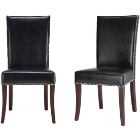 Safavieh Set of 2 Mercer Black Accent Chairs