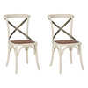 Safavieh Set of 2 American Home Antique White Accent Chairs