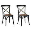 Safavieh Set of 2 American Home Black Accent Chairs