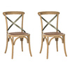 Safavieh Set of 2 American Home Oak Accent Chairs