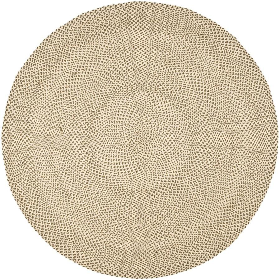 Shop Safavieh Cottage 6 Ft X 6 Ft Round Beige Transitional Area Rug At