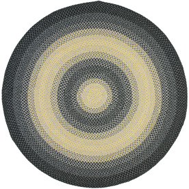 Shop Safavieh Braided Black And Grey Round Indoor And Outdoor Braided Area Ru