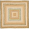 Safavieh Braided Tan and Multicolor Square Indoor and Outdoor Braided Area Rug (Common: 6 x 6; Actual: 72-in W x 72-in L x 0.42-ft Dia)
