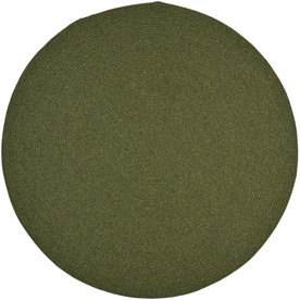 Shop Safavieh Braided Green Round Indoor And Outdoor Braided Area Rug Common