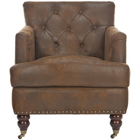 Safavieh Hudson Collection Brown Club Chair