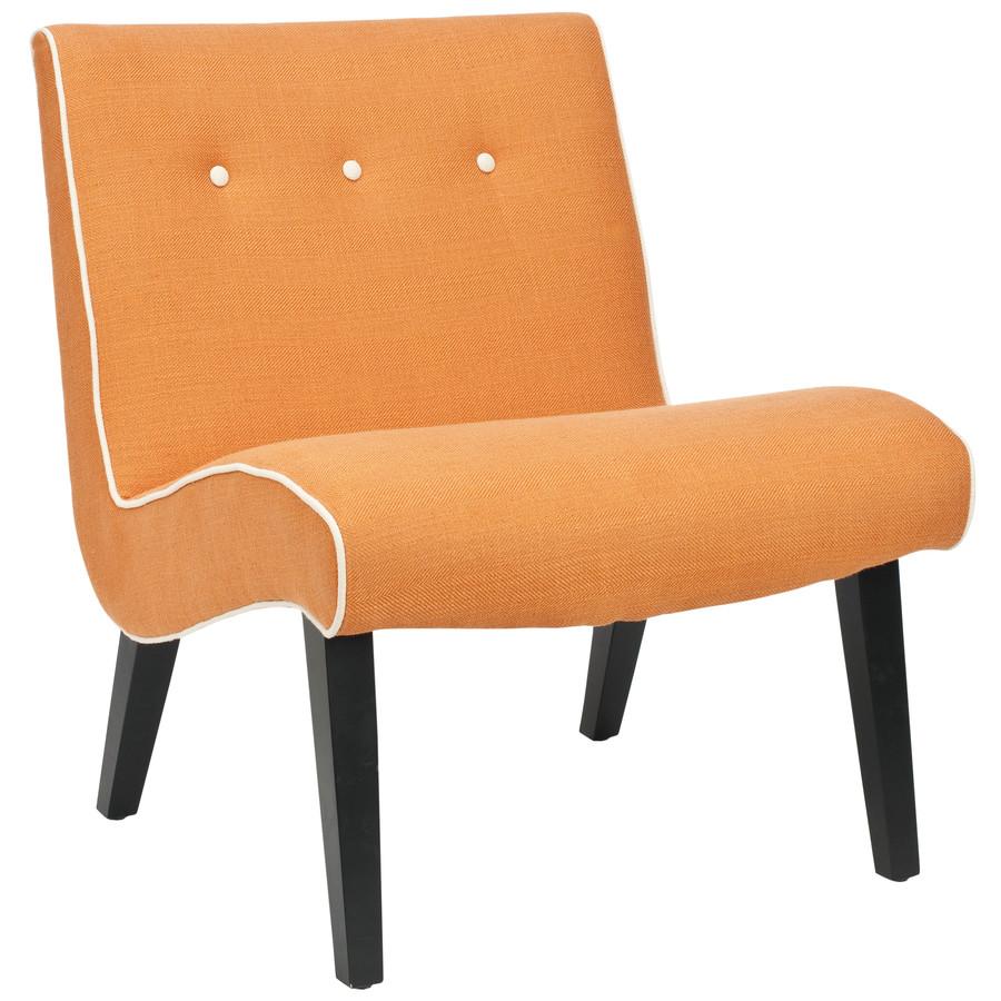 shop safavieh mercer orange accent chair at