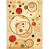 Safavieh 8-ft x 11-ft 2-in Multicolor Modern Circles Area Rug