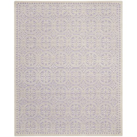 Safavieh Cambridge Rectangular Purple Transitional Tufted Wool Area Rug (Common: 9-ft x 12-ft; Actual: 9-ft x 12-ft)