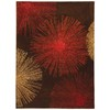 Safavieh 3-ft 6-in x 5-ft 6-in Chocolate Sunburst Area Rug