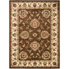 Safavieh Lyndhurst Ivory and Brown Rectangular Indoor Machine-Made Area Rug (Common: 9 x 12; Actual: 105-in W x 144-in L x 0.67-ft Dia)