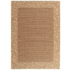Safavieh Courtyard Brown and Natural Rectangular Indoor and Outdoor Machine-Made Area Rug (Common: 5 x 8; Actual: 63-in W x 91-in L x 0.42-ft Dia)