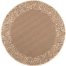 Shop Safavieh Courtyard Brown And Natural Round Indoor And Outdoor Machine Ma