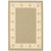 Safavieh Courtyard Olive and Natural Rectangular Indoor and Outdoor Machine-Made Area Rug (Common: 6 x 9; Actual: 79-in W x 114-in L x 0.42-ft Dia)