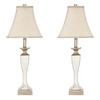 Safavieh 2-Piece Mirrored Lamp Set with Fabric Shades