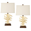 Safavieh 2-Piece Black Key West Coral Lamp Set