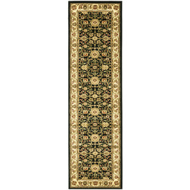 Safavieh Lyndhurst Black and Ivory Rectangular Indoor Machine-Made Runner (Common: 2 x 8; Actual: 27-in W x 96-in L x 0.58-ft Dia)