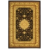 Safavieh Lyndhurst 39-in x 63-in Rectangular Black Accent Rug