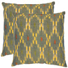 Safavieh 2-Piece 18-in W x 18-in L Green Square Accent Pillow