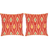 Safavieh 2-Piece 18-in W x 18-in L Red Square Indoor Decorative Complete Pillows