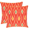 Safavieh 2-Piece 18-in W x 18-in L Red Square Accent Pillow
