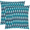 Safavieh 2-Piece 18-in W x 18-in L Blue Square Indoor Decorative Complete Pillows