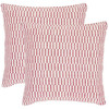 Safavieh 2-Piece 18-in W x 18-in L Pink Square Indoor Decorative Complete Pillows