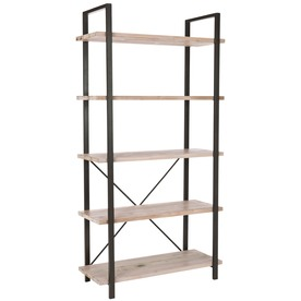 Safavieh American Home Pickled Oak 65-in 5-Shelf Bookcase