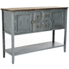 Safavieh American Home Distressed Blue Elm Rectangular Console and Sofa Table