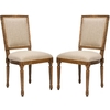 Safavieh Set of 2 Mercer Sand Gaming Chairs