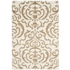 Safavieh Florida Shag 4-ft x 6-ft Rectangular Beige Transitional Area Rug
