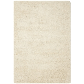 Safavieh California Shag 8-ft x 10-ft Rectangular White Solid Area Rug