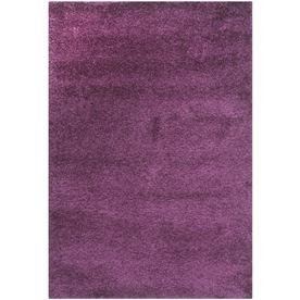 Safavieh California Shag Purple Rectangular Indoor Machine-Made Area Rug (Common: 4 x 6; Actual: 48-in W x 72-in L x 0.58-ft Dia)