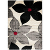 Safavieh Miami Shag 4-ft x 6-ft Rectangular Black Transitional Area Rug
